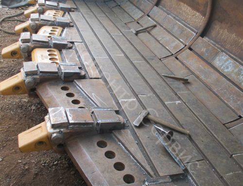 Выполнили ремонт ковша фронтального погрузчика