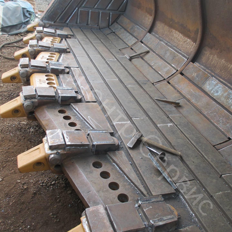 Выполнили ремонт ковша фронтального погрузчика 1