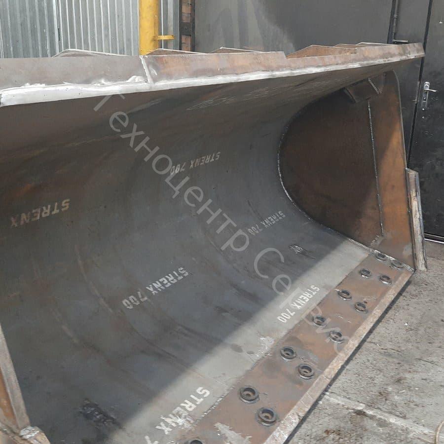 Изготовили новый ковш для фронтального погрузчика Hyundai SL763, объем - 3.2м³